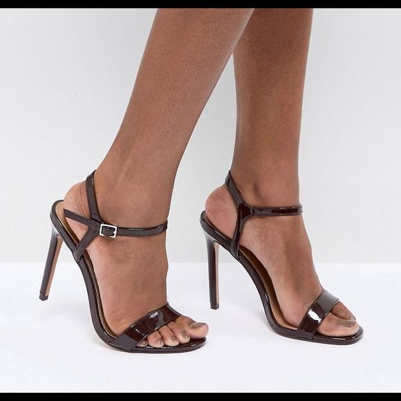 Asos Hands Down Wide Fit Heeled Sandals